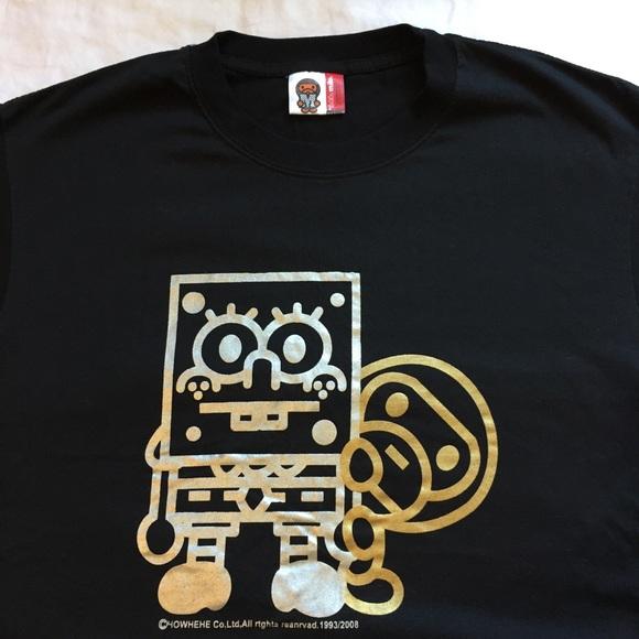 f9738c01c Bape Shirts | Baby Milo Spongebob T Shirt Mens Medium Euc | Poshmark